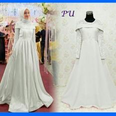 MUSLIM / Gamis Kebaya Pesta Sabrina Baloteli Ori Baju Pesta GamisBrukat Putih