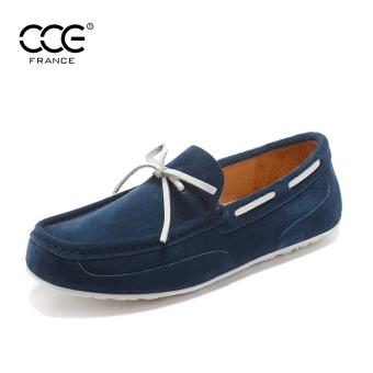 Harga N3419 1 laki laki kulit sepatu Peas sepatu (N3419 1 biru ... 68c80ec345