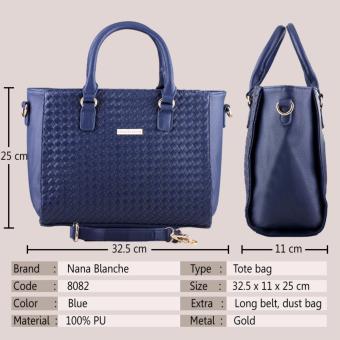 Nana Blanche Botega Tas Kerja Premium / Tas Tangan dan Tas Selempang - 8082 Biru - 2
