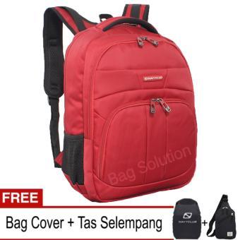 Navy Club Tas Ransel Laptop Tahan Air 5902 Backpack Up to 15 inch - Merah (