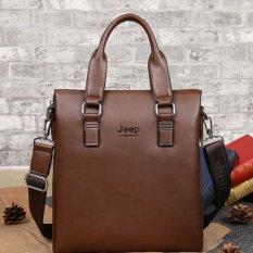 New Cowhide Leather Tote Bag Pemuda Bisnis Tas Vertical .