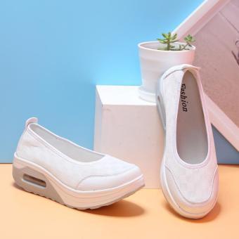 New Fashion Wanita Sepatu Casual Jalan Sepatu Manis Sepatu datar Women Casual Shoes Street Shoes Sweet Flat Shoes-intl - 3