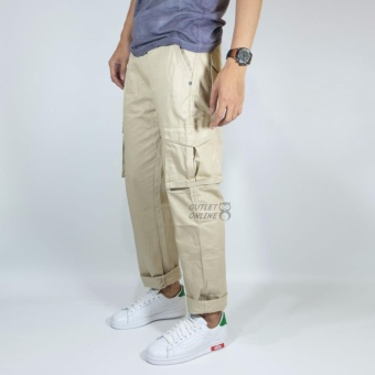 NHS Celana Cargo Panjang Relaxed Fit [Cream]