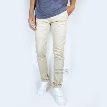 BELI SEKARANG NHS Celana Chino Pria Slim Fit Cream Klik di sini !!!