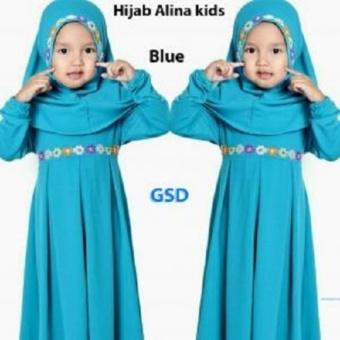Detail Gambar Nicer Baju Muslim Gamis Anak Alina Purple Terbaru