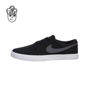 Jual Nike SB Portmore II Solar Skateboard Shoes Black / Dark Grey-White 880266-001 -SH Online