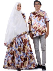 NithaRahadi Fathin Coat + Khimar Couple Coklat