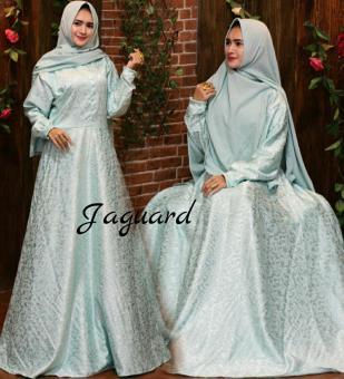 NR Hijab-baju dress gaun wanita muslim gamis pesta jaguard gliter Gamis  pesta fe37b0e3cb