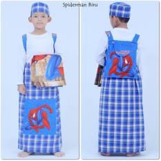 Nuranitex Busana Muslim Sarung Anak Instan Spiderman - Biru
