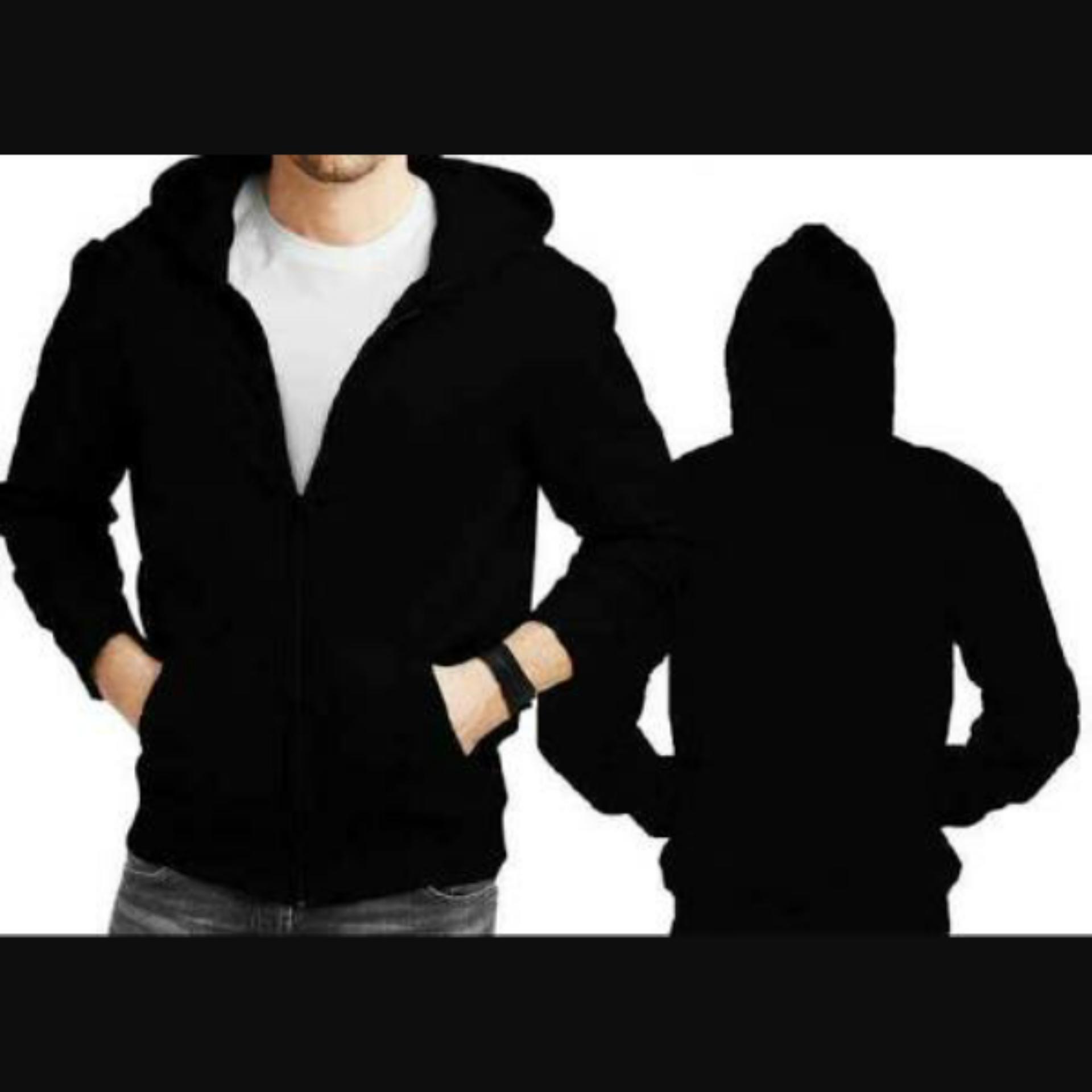 Price Checker Oblong Hitam Store Jaket Polos Sweater Hoodie Basic Gildan Hooded Sweatshirt Black