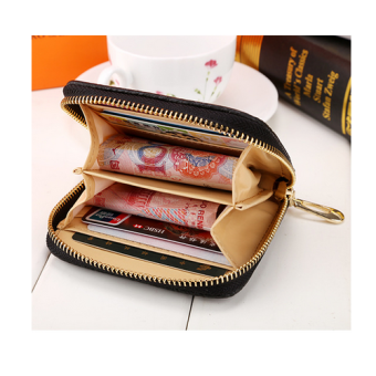 OEM Fashion Dompet Wanita Wallet Semi Bag Pouch Women Girl - Hitam -