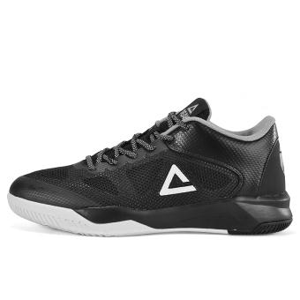 Olimpiade E72381A memakai bernapas bantalan kebugaran sepatu sepatu basket (Hitam)