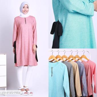 Omah Fesyen Aszania Plain Flare Blouse - Pink Int:M