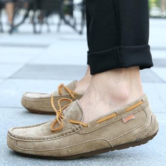 harga Orang Malas Korea Fashion Style Tambah Beludru Pria Yang Hangat Sepatu Katun Laki-laki Sepatu (3418 (Renda) Khaki) Lazada.co.id