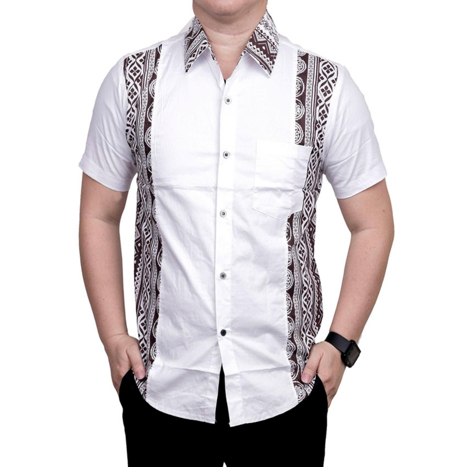 Anggaran Terbaik Ormano Baju Koko Muslim Batik Lengan Pendek Lebaran Modern 14 Zo17 23sr Kemeja Fashion Pria All Size