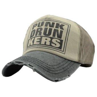... Ormano Topi Baseball Snapback Hip Hop Punk Drunkers Cap Coklat