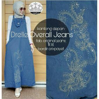 overall bordir mote jeans