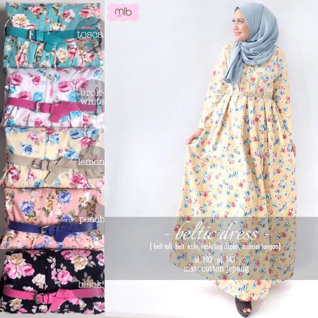 Harga Penawaran Pakaian Muslim Gamis Katun Jepang Longdress Baju Halus Flash Sale Wanitabeltic Maxi