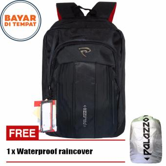 Palazzo Tas Ransel 18 Inchi 35429-18 Polyester Nylon Waterproof Original - Black + Raincover
