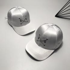 Panjang Tali Rantai Perhiasan Topi Baseball (Putih satin Go topi baseball)