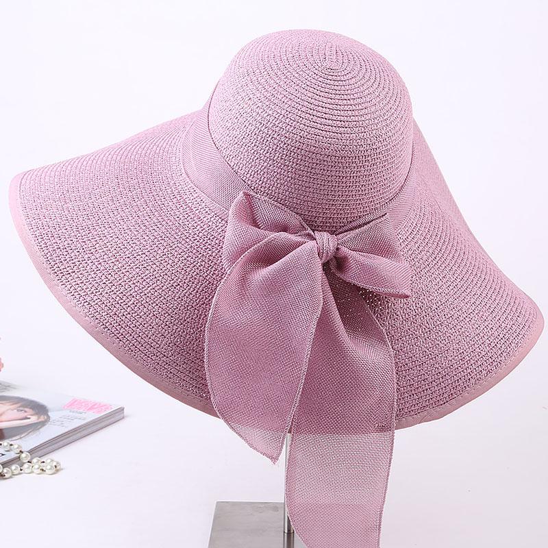 Pantai perempuan pantai topi matahari topi topi jerami (Lavender ungu topi  jerami) 077f7d76b5