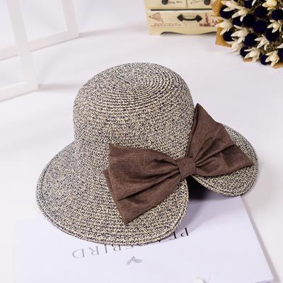 Korea Fashion Style Perempuan Dilipat Cooljie Topi Pantai Topi Beige Source · Pantai perempuan resor tepi laut besar Cooljie ember topi matahari topi jerami ...
