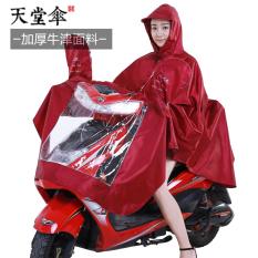 Paradise nilon asli Ukuran Plus tebal mobil listrik jas hujan sepeda motor jas hujan (Tebal