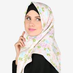 Parisku Jilbab Hijab Segiempat Katun Square Darin Peach