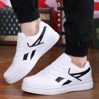 Beli Pecinta Gaya Korea dari remaja laki-laki sepatu pasang sepatu pria  sepatu (Q51 putih dan hitam) Terpercaya 0b1faef6ca