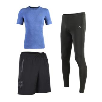 Pelatihan kebugaran gym berjalan cepat kering pakaian I pakaian pakaian basket (Biru)