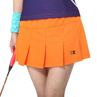 harga Perempuan kulot bulu tangkis celana pendek rok bulu tangkis pakaian (Oranye) Lazada.co.id