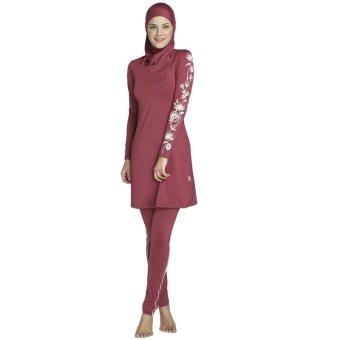 harga Perempuan Ukuran Lebih Mencetak Muslim Pakaian Renang Model PakaianRenang Berenang Surfing Muslimah Islam Memakai Pakaian Olahraga Lazada.co.id