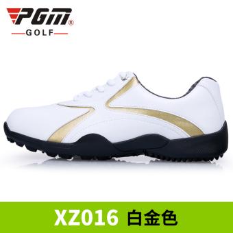harga PGM pria klasik model sepatu sneaker sepatu golf (Pria emas putih [3D lapisan dalam bernapas]) Lazada.co.id