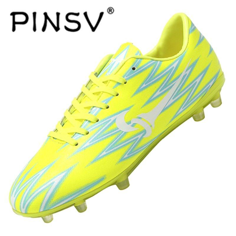 ... PINSV Children Football Shoes TF/FG/AG Long Spikes Training Football Boots Hard- ...