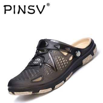 PINSV Men Fashion Tide Shoes Hole Beach Slippers Casual Shoes - intl