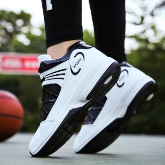 PINSV pria basket Sepatu Sneaker tren a basket Sport Boots - putih - 3