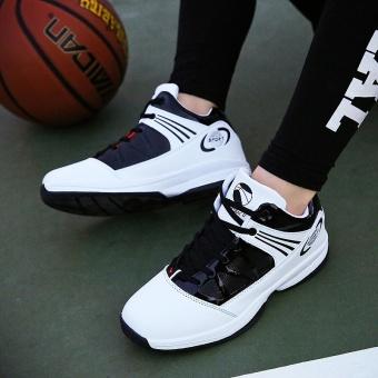 PINSV pria basket Sepatu Sneaker tren a basket Sport Boots - putih - 4
