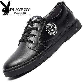 Jual PLAYBOY Gaya Korea pria baru sepatu pria musim gugur sepatu (Hitam) Online