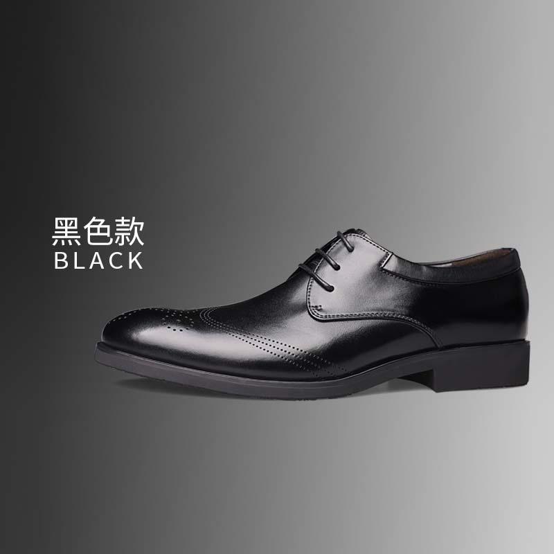 Flash Sale Playboy Inggris Kulit Model Musim Semi Dan Musim Gugur Bernapas Sepatu Pantopel Sepatu Pria (Lapisan Tunggal + Hitam)