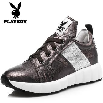PLAYBOY Korea Fashion Style Perempuan Musim Gugur Baru Sepatu Lari Sepatu Wanita Sepatu Olahraga (Pistol Warna)