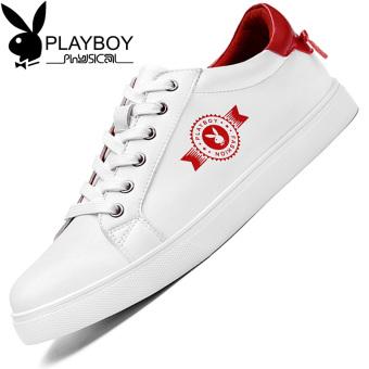 Beli PLAYBOY Korea kulit pria baru sepatu pria sepatu (Putih dan merah)  Online b507297396