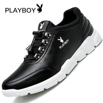 PLAYBOY kulit pria sepatu sepatu pasang sepatu pria (Hitam)