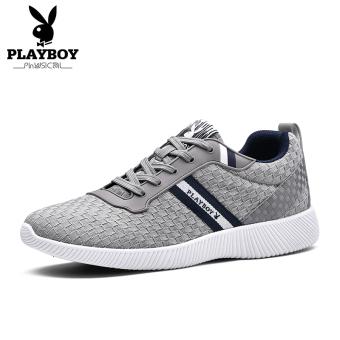 Beli PLAYBOY musim gugur baru sneakers sepatu pria (Abu-abu terang) Murah 208e3ed2d4