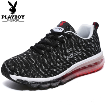 Beli PLAYBOY musim gugur muatan penuh baru bantalan udara sepatu lari  sepatu pria (Hitam abu-abu terang) Murah 65d127b36f