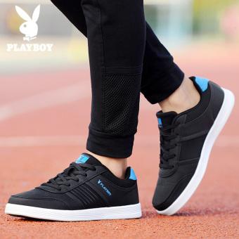 Harga PLAYBOY musim gugur pria hitam dan putih sepatu sepatu pria (Hitam) Baru