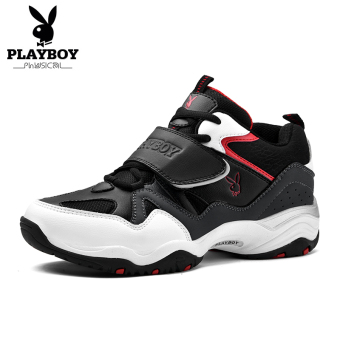 PLAYBOY Panda Sepatu Pariwisata Sepatu Sepatu Pria (Hitam/Abu-Abu)