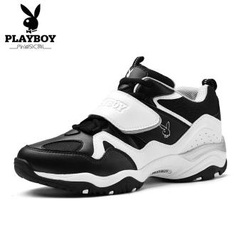 PLAYBOY panda sepatu pariwisata sepatu sepatu pria (Hitam/putih)