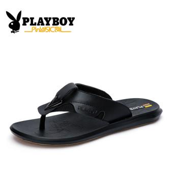 harga PLAYBOY pria bernapas dan sandal non-slip sandal pria (Hitam) Lazada.co.id