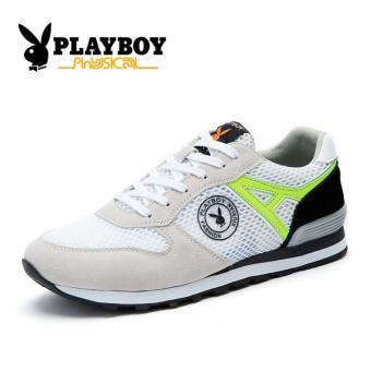 Beli PLAYBOY pria jala sepatu lari sepatu pria (Putih) Murah
