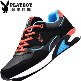 """PLAYBOY Tambah Beludru Pria Yang Hangat Kasual Sepatu Sepatu Katun (Lapisan Tunggal + Hitam Safir Biru """"Baru"""")"""